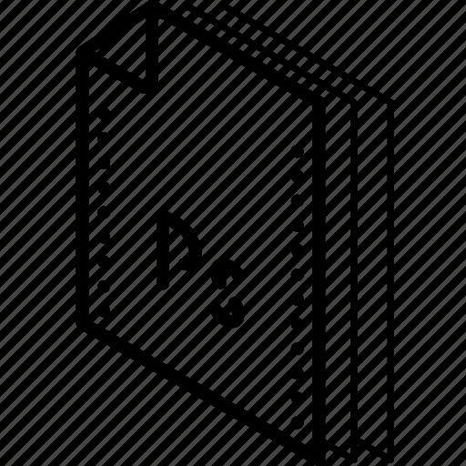 file, folder, isometric, photoshop icon
