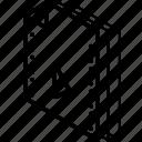 file, folder, isometric, movie icon