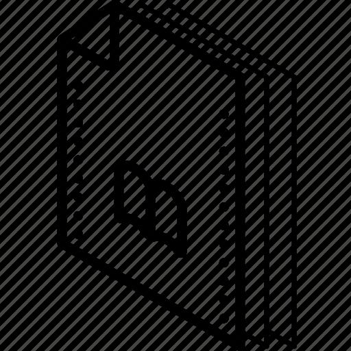 bookmarks, file, folder, isometric icon