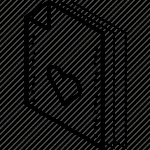 favourites, file, folder, isometric icon