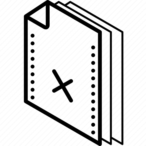 file, folder, isometric, rejected icon