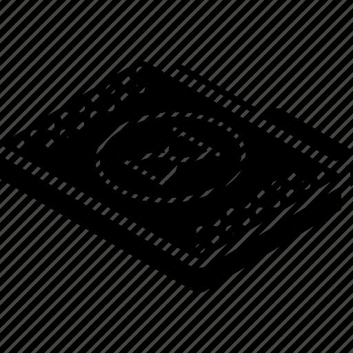 file, folder, isometric, timed icon