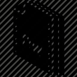 dreamweaver, file, folder, isometric icon