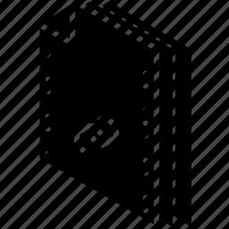 file, folder, isometric, link icon