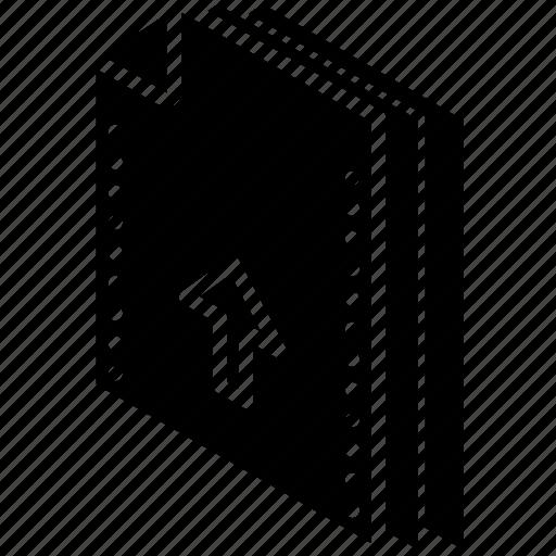 file, folder, isometric, upload icon