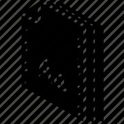 file, folder, isometric, typeface icon