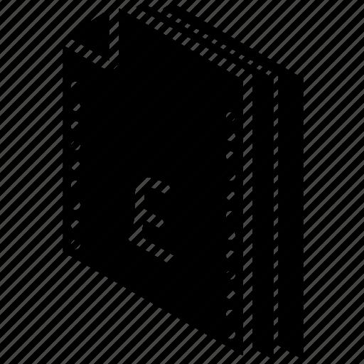 file, finance, folder, isometric, pound icon