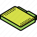 file, folder, isometric icon