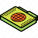 file, folder, internet, isometric icon