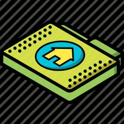 file, folder, home, isometric icon