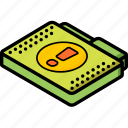 file, folder, important, isometric icon