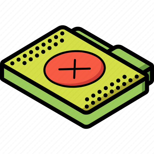 file, folder, isometric, removed icon