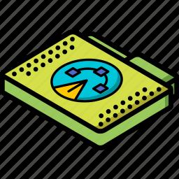 file, folder, isometric icon