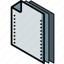 document, folder, isometric icon
