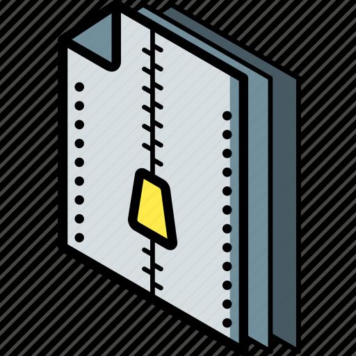 compressed, file, folder, isometric icon