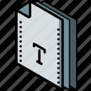 file, folder, font, isometric