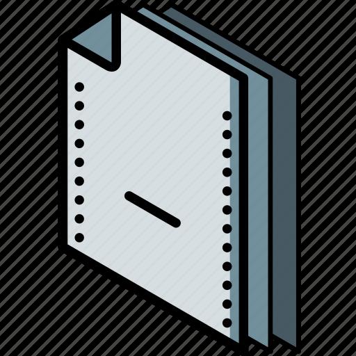 file, folder, isometric, remove icon
