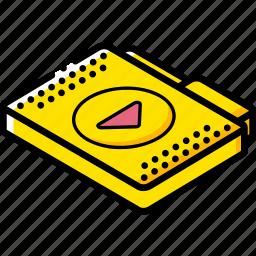 file, folder, isometric, media icon