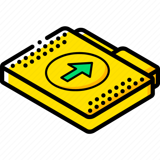 file, folder, isometric, upload icon