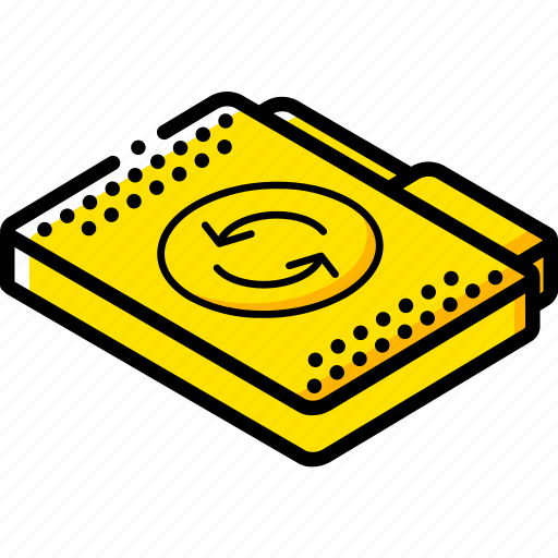 File, folder, isometric, sync icon - Download on Iconfinder