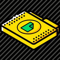 document, file, folder, isometric icon