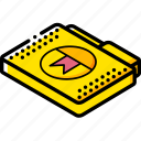 bookmark, file, folder, isometric icon