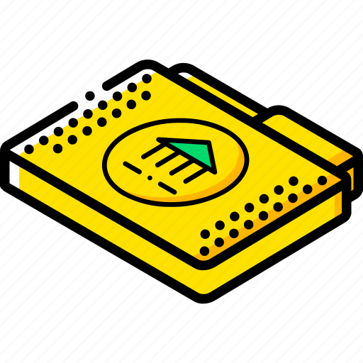file, folder, isometric, library icon