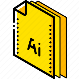 file, folder, illustrator, isometric icon