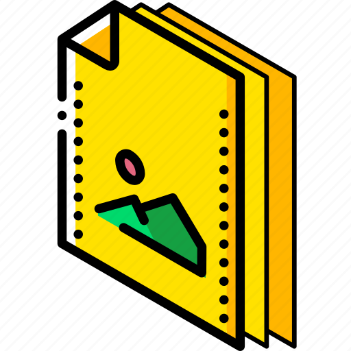 file, folder, isometric, picture icon