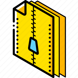 compressed, file, folder, isometric icon