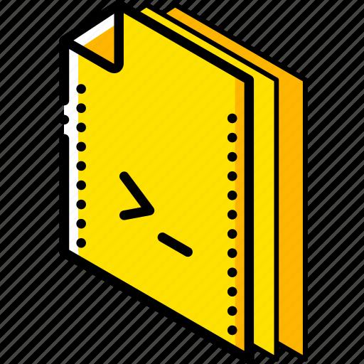 file, folder, isometric, shell icon