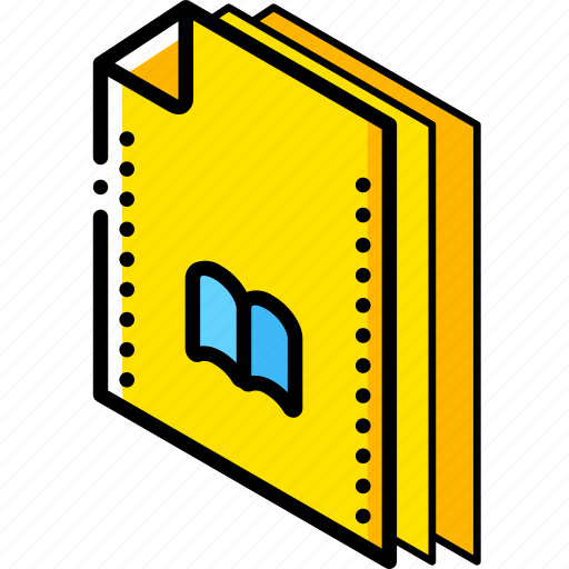 bookmarks, file, folder, isometric icon