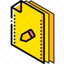 edit, file, folder, isometric icon