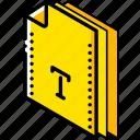 file, folder, font, isometric icon