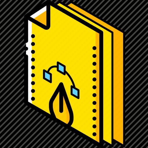 File, folder, isometric icon - Download on Iconfinder