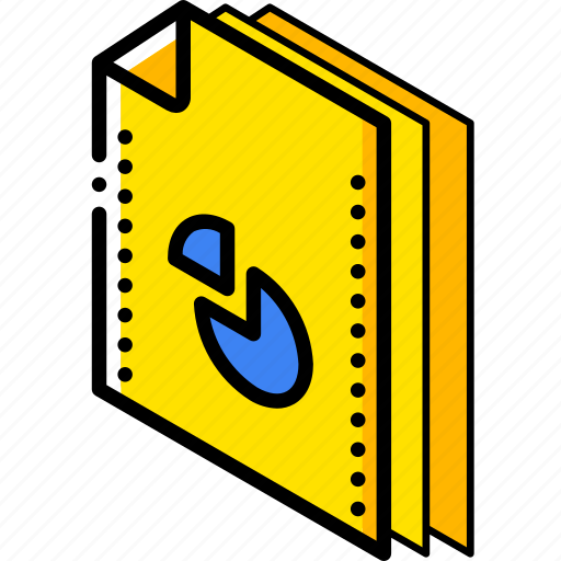 chart, file, folder, isometric icon