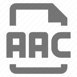 aac, audio, document, file, format, paper, sheet icon