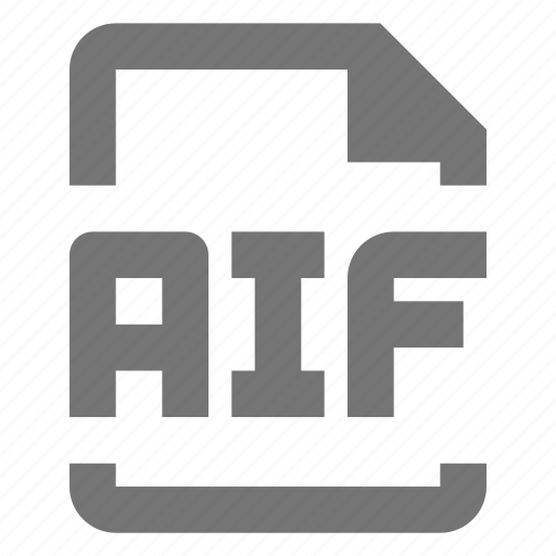 aif, audio, data, document, file, format, paper, sheet icon