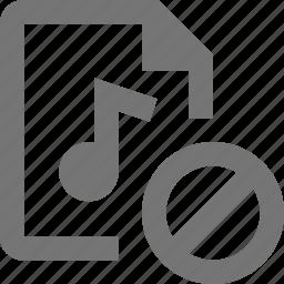 audio, block, file, stop icon