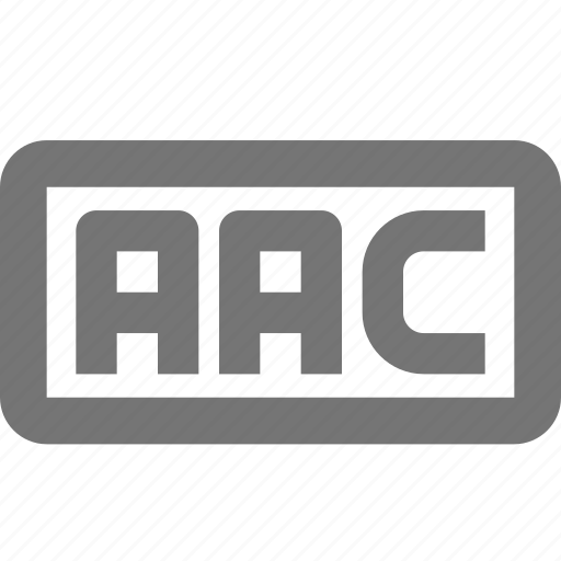 aac, audio icon