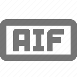 aif, audio, document, file, format, type icon