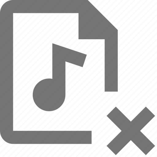 audio, close, delete, file icon