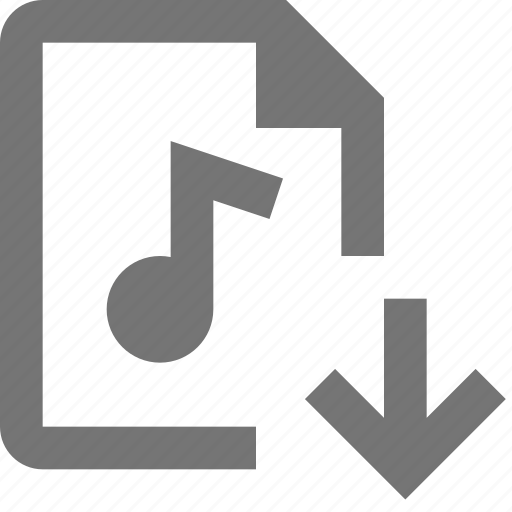 Download, audio, file, down, arrow, paper, document, format icon