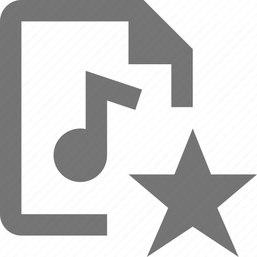 audio, favorite, file, star icon