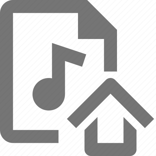 audio, file, home, house icon