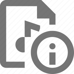audio, file, information icon