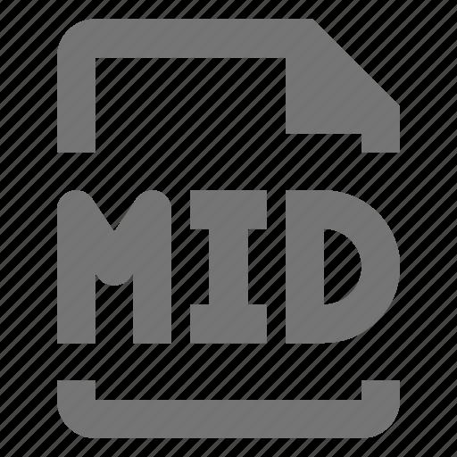audio, file, mid icon
