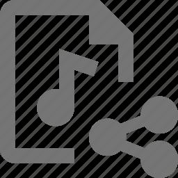 audio, file, share icon