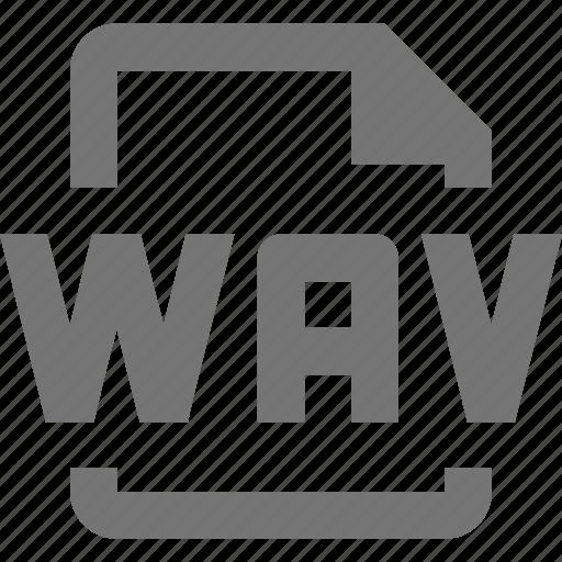 audio, file, wav icon