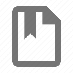 bookmark, file, tag icon